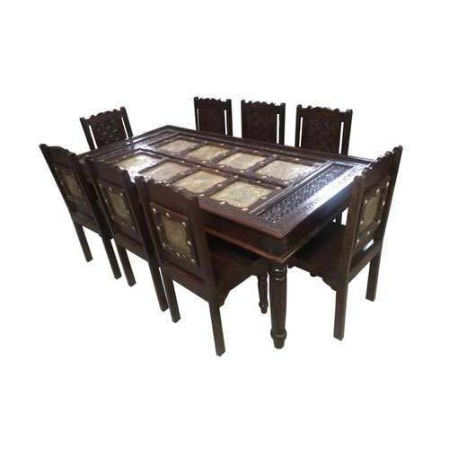 Brass Fitted Dining Table Set