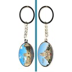 Multicolor Photo Printed Key-Chain Oval