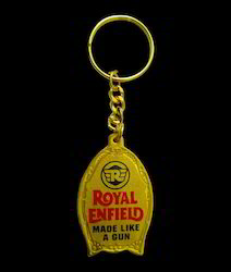 Golden Meena Key Chain ( Royal Enfield )
