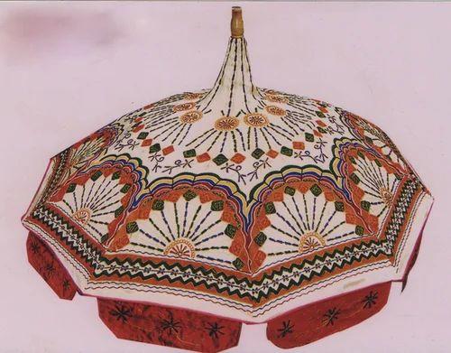 Rajasthani Art Colorful Boho Style Garden Parasol Umbrella
