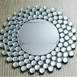 White Glass Tempered Mirror, Size: 24x24