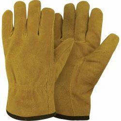 Split Leather Pile Lined Gloves