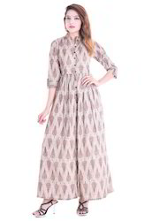 Cotton Floor Length Gown