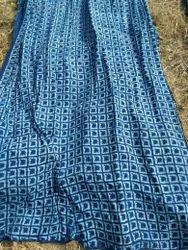 Indigo Hand Block Print Dress Material