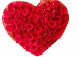Red Roses Heart Shape