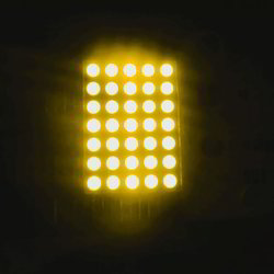 1 Inch 5x7 LED Dot Matrix Display Amber