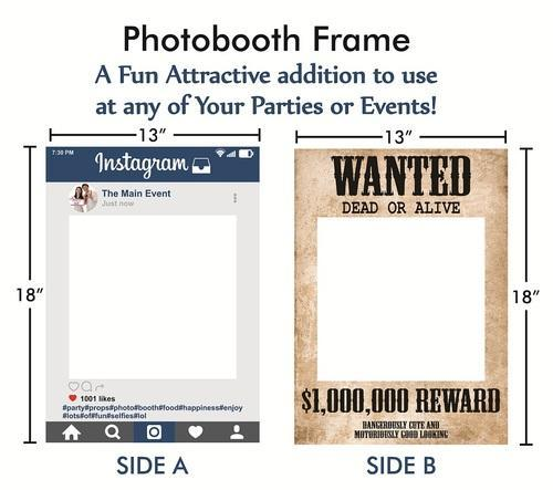 Photo Booth Props Baby Shower Party Photo Booth Props Wooden Frame