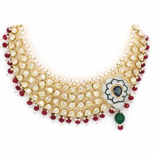 35248f0f60c Kundan Necklace at Rs 485850 /piece   Kundan Necklaces   ID: 11036158248