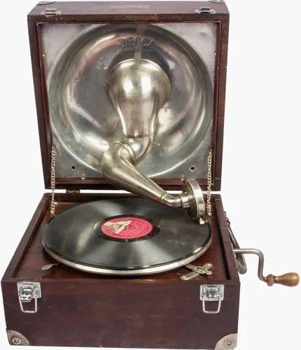Original Hmv Decca Gramophone Antique Phonograph