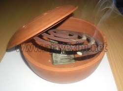 Clay Pest Coil Holder