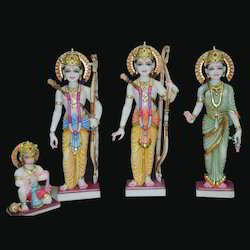 Marble Lord Ram Darbar Statue