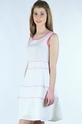 White And Pink Knee Length Dress