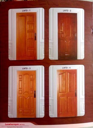 LN Doors Custom Teakwood Panel Door for Home