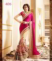 Party Wear Asian Net Embroidered Sarees