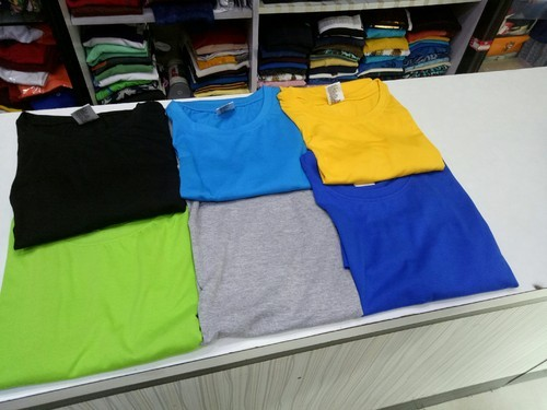 Men' s Round Neck Casual T Shirt