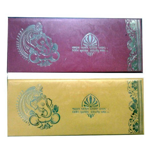 Maroon And Yellow Paper Cheap Wedding Cards Rs 8 Piece Orient Cards Id 10358126048