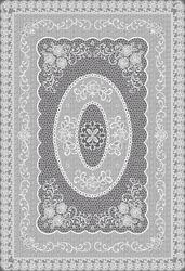PVC Clear Printed Crochet Table Cover