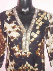 Y Red Silk Fashion Garments, Size: Medium
