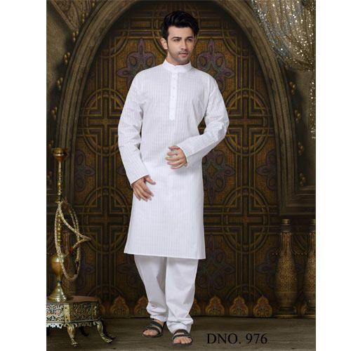 a2d27bda226c Ravishing Men Party Wear Indian Ethnic White Evergreen Kurta at Rs ...