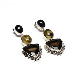 Precious Stone Earrings