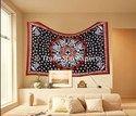 Indian Cotton Ganpati Wall Hanging Tapestry