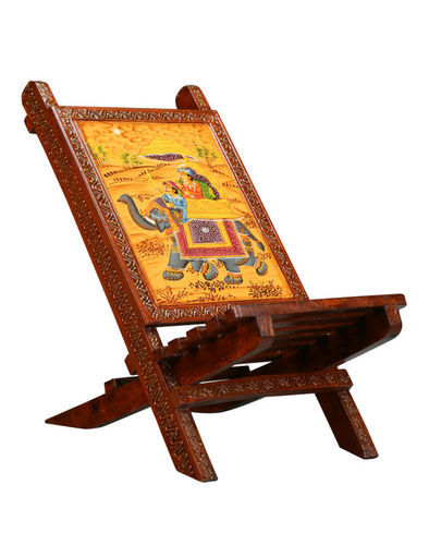 Groovy Rajasthani Wooden Painted Chair Home Interior And Landscaping Oversignezvosmurscom