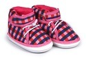 Cotton Check Baby Shoes Regular, Packaging Type: Box