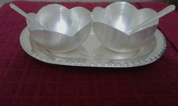 Two Bowl With Tray Set