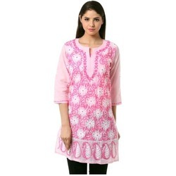 Available In Many Colors Lucknowi Embroidered Kurtis