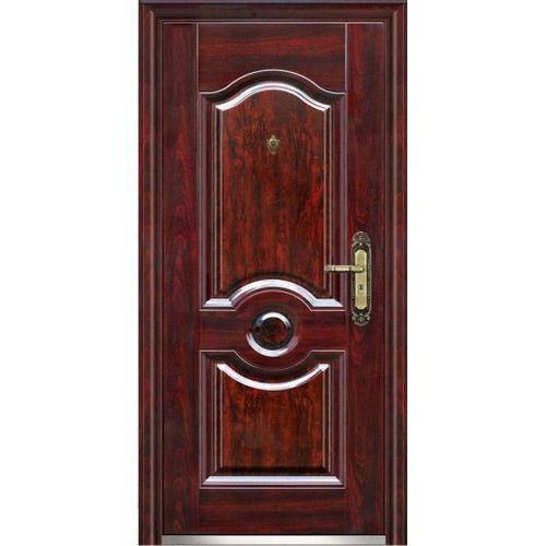 Steel door gray flush left hand security steel sc 1 st for Special door design