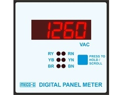 Meco-g 96r3501-v34, 3 Phase 3 1/2 Digit Panel Meter , Voltmeter