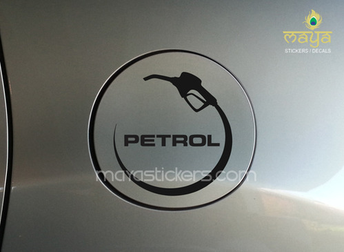 Petrol fuel cap sticker for car fuel lids