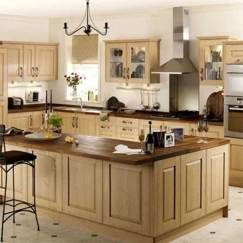 Classic Modular Kitchen Cabinets Rs 18000 Piece: G Shaped Modular Kitchen Manufacturer