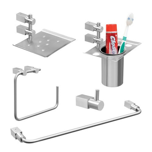 Stainless Steel Bathroom Accessories | 5 Pieces Stainless Steel Bathroom Accessories Set