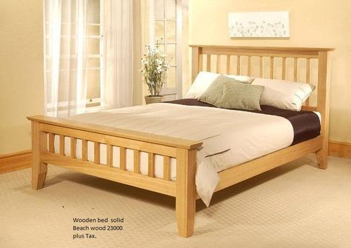 Wooden Bed ( Beech Wood)