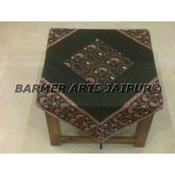 Table Cover Silk Embroidery Kashmiri Work Border