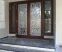 Hinged Khaas Decorative Glass For Entry Door