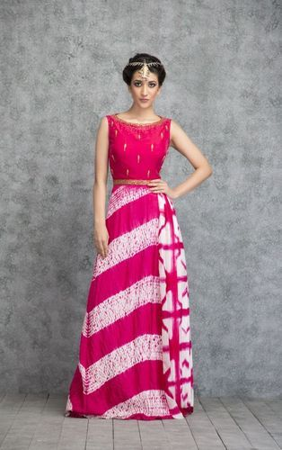 aa0190ac5 Shocking Pink Shibori Dress