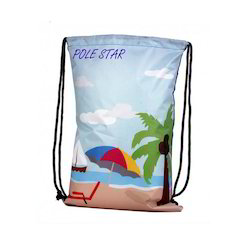 Printed Pole Star Drawstring Bags