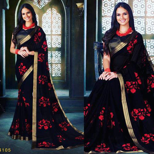 Kashmiri Party Wear Saree, Length: 6 m