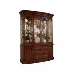 Brown Antique Teakwood Bookcase