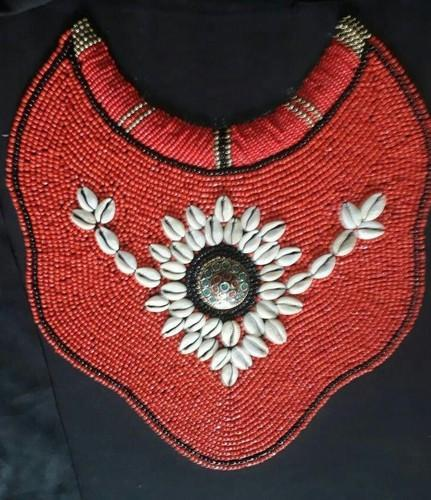 Address Craft Red Embroidery Necklace