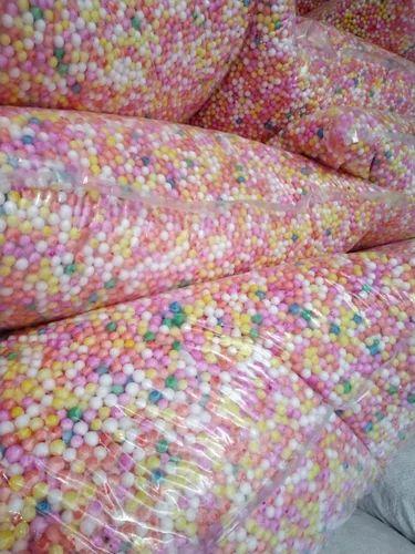 White And Yellow Mini Multicolored Thermocol Balls