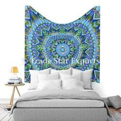 Indian Tribal Queen Ombre Mandala Tapestry