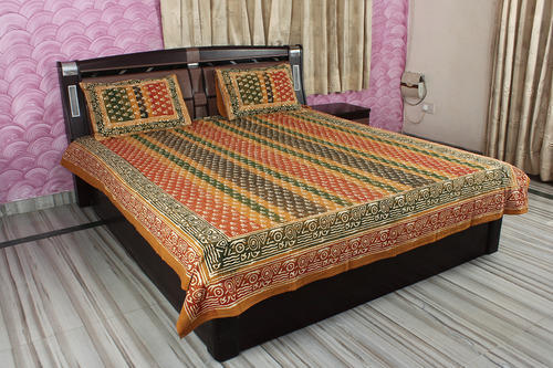 Lovely Cotton Printed Decorative Multi Color Bed Sheets