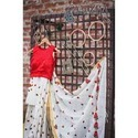 French Knot Embroidery Sarees