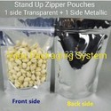 Stand Up Zipper Pouches With Silver Metallic Back
