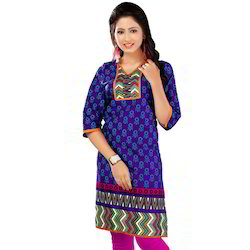 Original Dark Print Cotton Kurti