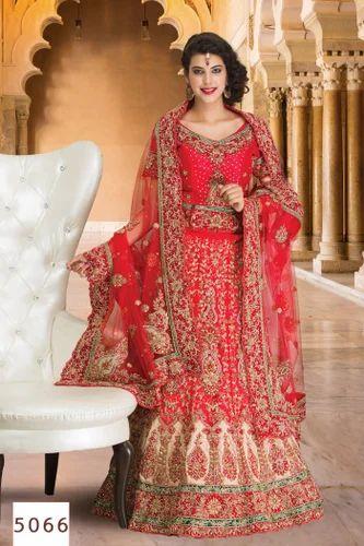 b637a8056c Maroon Color Bridal Lehenga at Rs 6500 /piece | Bridal Lehenga | ID ...