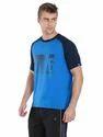 Neon Blue Raglan T Shirt
